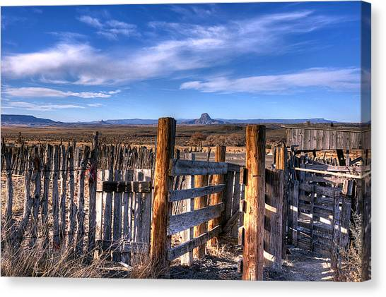 Old Western Corral Canvas Print