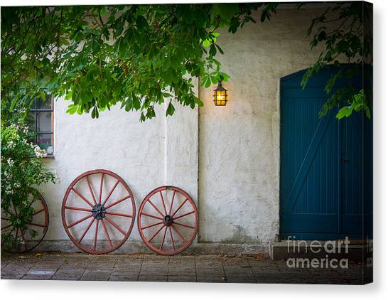 Europa Canvas Print - Old Wheels by Inge Johnsson
