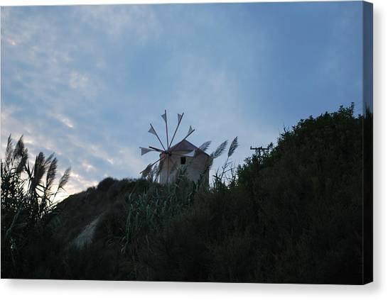 Old Wind Mill 1830 Canvas Print
