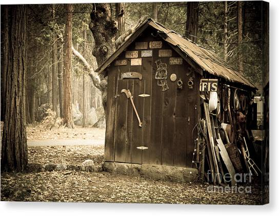 Axes Canvas Print - Old Wooden Shed Yosemite by Jane Rix