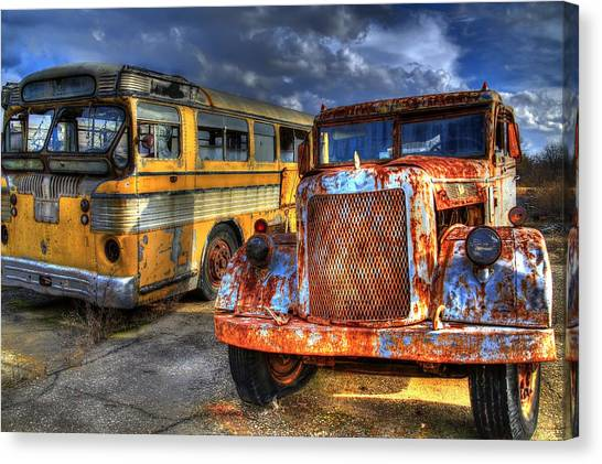 Old Workhorses Canvas Print