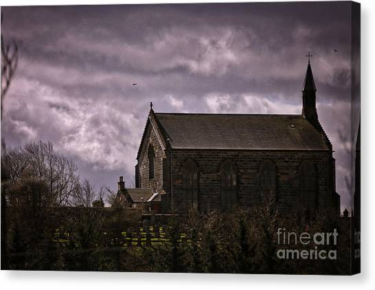 Old World Church Canvas Print