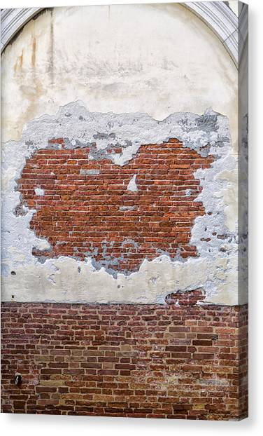 Old Worn Out Wall In Venice Canvas Print by Francesco Rizzato