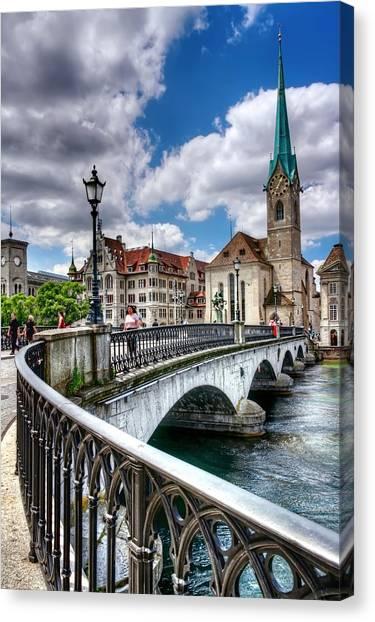 World Heritage Canvas Print - Old Zurich by Carol Japp