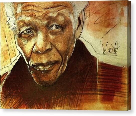 Older Nelson Mandela Canvas Print