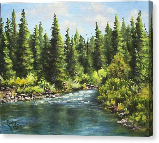 Oldman Stream Canvas Print