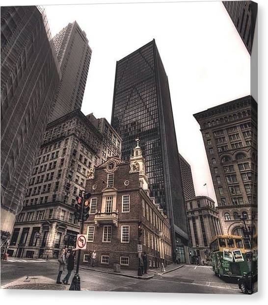 Massachusetts Canvas Print - #oldstatehouse #alemy #boston by Joann Vitali