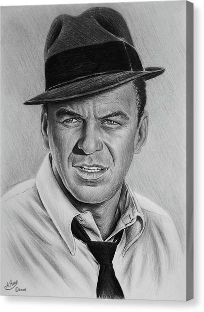 Frank Sinatra Canvas Print - Ole Blue Eyes by Andrew Read