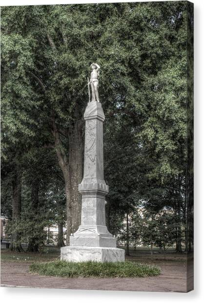 Mississippi State University Canvas Print - Ole Miss Confederate Statue by Joshua House