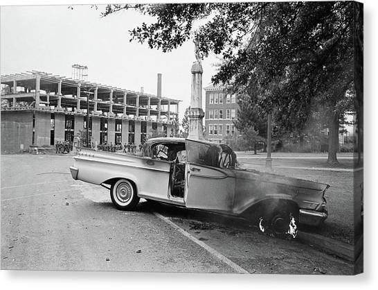 University Of Mississippi Ole Miss Canvas Print - Ole Miss Riot, 1962 - To License For Professional Use Visit Granger.com by Granger