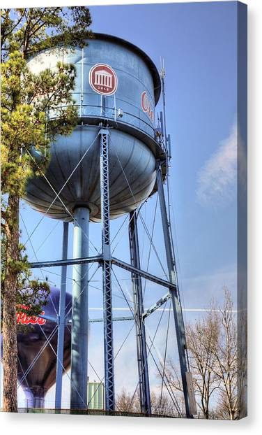 University Of Mississippi Ole Miss Canvas Print - Ole Miss Water Towers by JC Findley