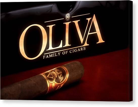 Social Canvas Print - Oliva Cigar Still Life by Tom Mc Nemar