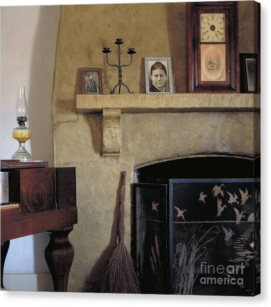 Olivas Adobe Hearth Canvas Print