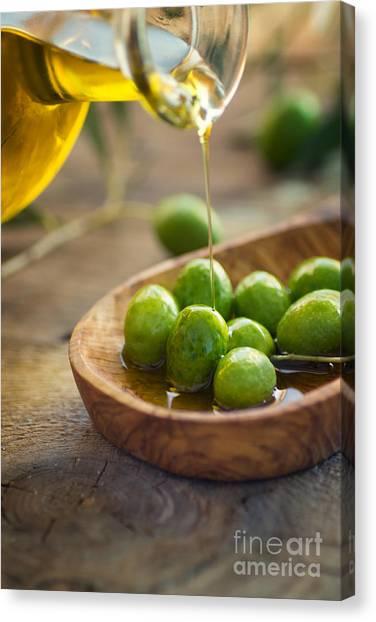 Mythja Canvas Print - Olive Oil by Mythja  Photography