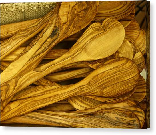 Canvas Print featuring the photograph Olive Wood by Rick Locke