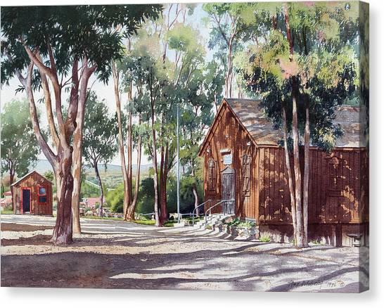 San Diego Canvas Print - Olivenhain Meeting House by Mary Helmreich
