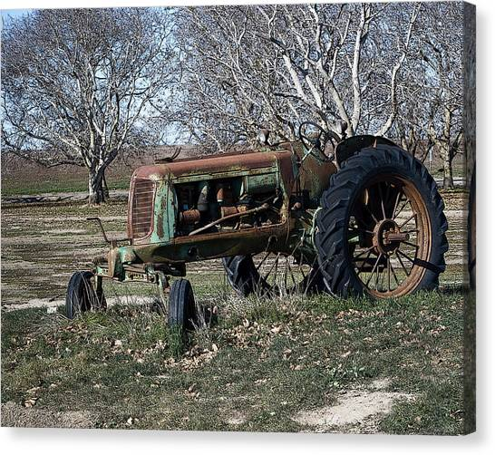Oliver Farm Tractor Canvas Print