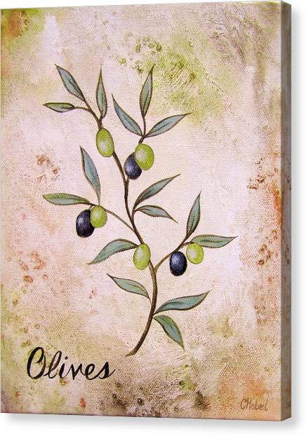 Olives Painting Canvas Print
