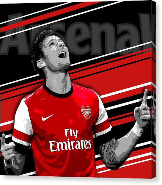 Lionel Messi Canvas Print - Olivier Giroud Arsenal Print by Pro Prints