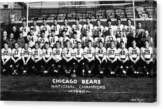 Braces Canvas Print - Chicago Bears 1940 by Retro Images Archive