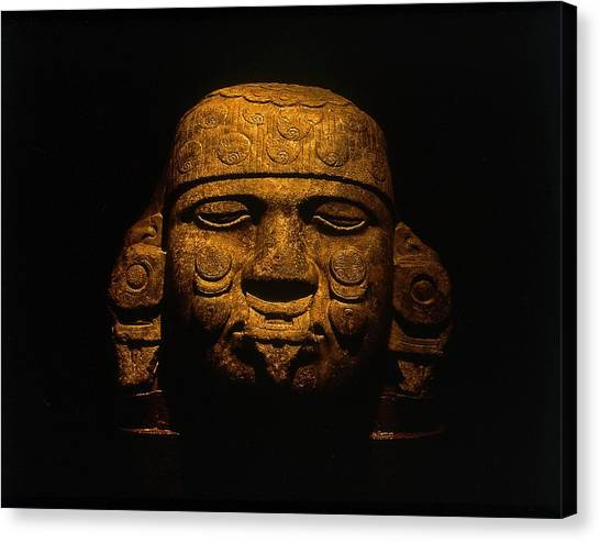 Olmeca Head Canvas Print