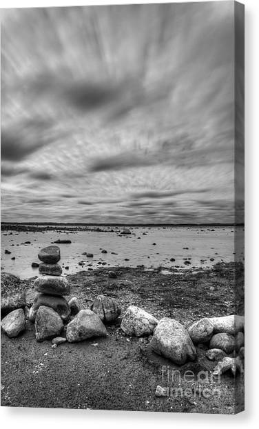Northern Michigan Canvas Print - Ols Mission Peninsula Shoreline by Twenty Two North Photography