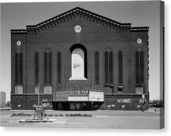 Detroit Red Wings Canvas Print - Olympia Hockey Arena 1 by Andrew Fare