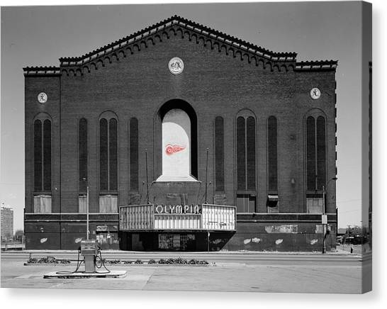 Detroit Red Wings Canvas Print - Olympia Hockey Arena 2 by Andrew Fare