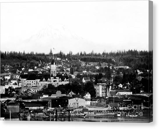 Canvas Print featuring the photograph Olympia View 1910c by Joe Jeffers