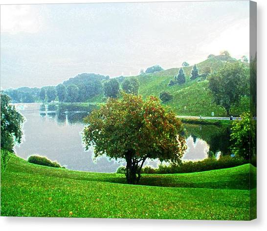 Olympiapark In Munich Canvas Print