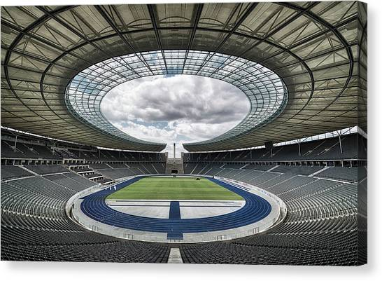 Stadiums Canvas Print - Olympiastadion, Berlin. by Massimo Cuomo