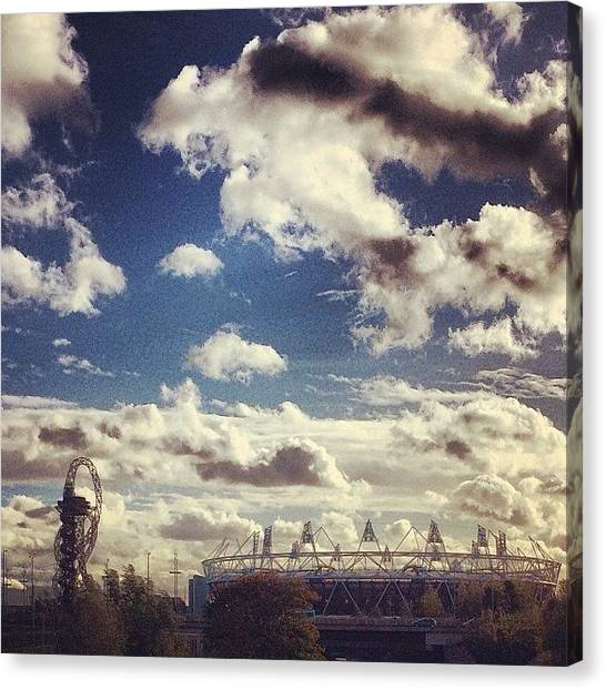 Queen Elizabeth Canvas Print - Olympic Clouds by Liam Daly