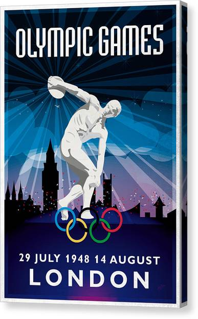 Briex Canvas Print - Olympic Games London 1948 New Style by Nop Briex