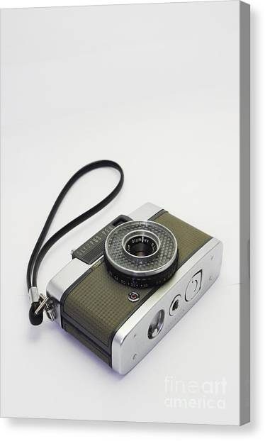Olympus Pen-film Camera Canvas Print by Tuimages