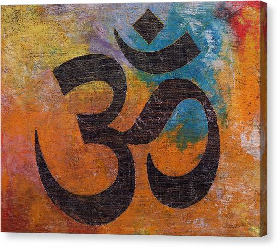 Buddha Canvas Print - Om by Michael Creese