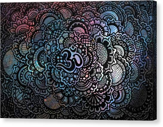 Symbolism Canvas Print - Om Sweet Om by Andrea Stephenson