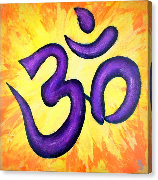 Om Symbol Art Painting Canvas Print