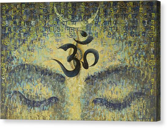 Nirvana Canvas Print - OM by Vrindavan Das