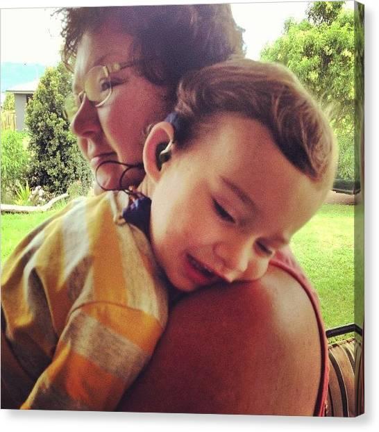 Grandma Canvas Print - #oma #toddler #love #grandma by Renee Bradley