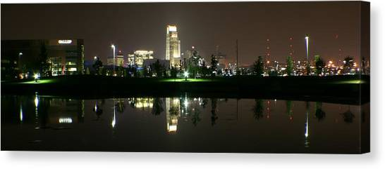 Omaha Skyline Reflection Canvas Print