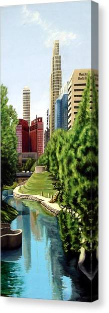Omaha Skyline Canvas Print