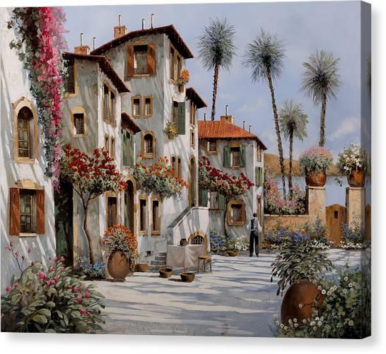 Villages Canvas Print - Ombre Al Pomeriggio by Guido Borelli