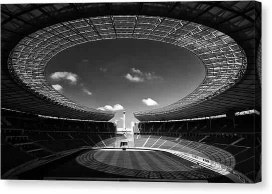 Stadiums Canvas Print - Omega by Hans-wolfgang Hawerkamp
