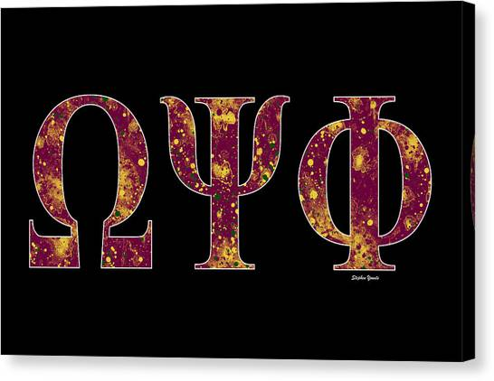 Omega Psi Phi Canvas Print - Omega Psi Phi - Black by Stephen Younts