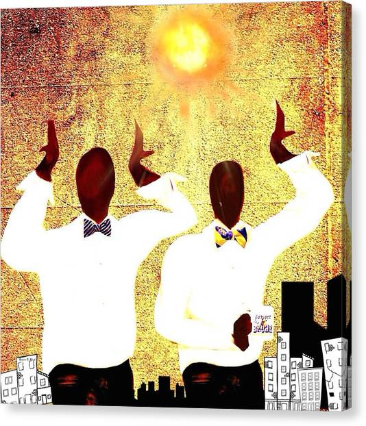 Omega Psi Phi Canvas Print - Omega Under The Sun by Romaine Head