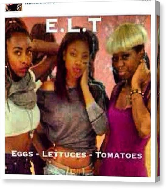 Lettuce Canvas Print - Omg #ratchetmess #ratchet #tlcstory by Brandon Fisher