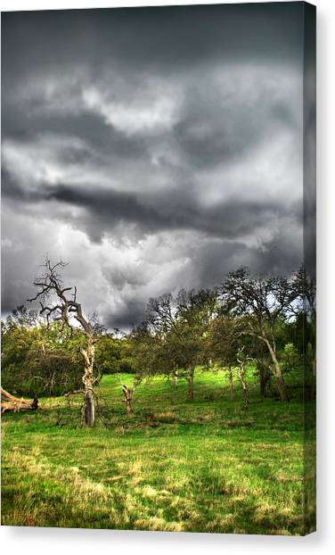 Ominous Storm Brewing Canvas Print