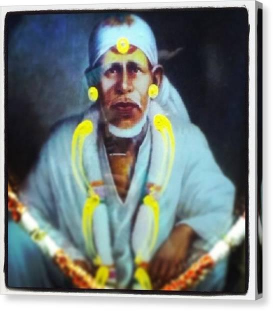 Om Canvas Print - #omsairam #sai #ram #om #shri #sainath by Bhaskar Arora