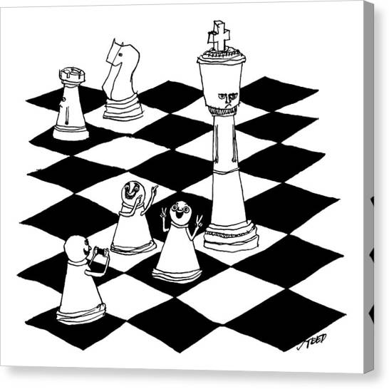 On A Chessboard Canvas Print