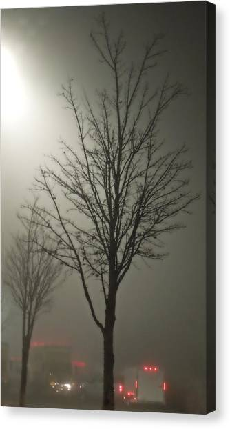 On A Foggy Night Canvas Print